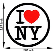 I Love New York NY City Travel USA United States Red Heart Nation Applique Iron on Patch Sew Embroidered
