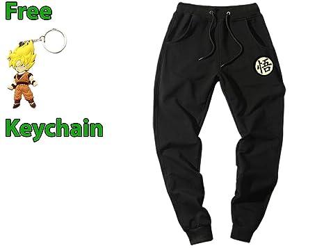 Amazon.com  Geek Gear Dragon Ball Z Men Joggers Kanji Sweatpants Workout  Pants Free Keychain  Clothing 43689c42804f