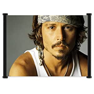 Johnny Depp Actor Fabric Wall Scroll Poster (21x16) Inches