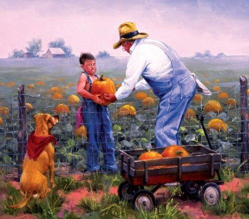 Grandpa's Pumpkins by SunsOut