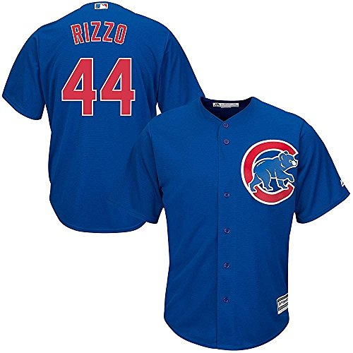 Anthony Rizzo Chicago Cubs MLB Majestic Youth Blue Alternate Cool Base Replica Jersey (Youth Large 14-16)