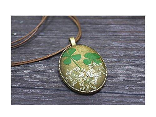 pressed leaf necklace - 6