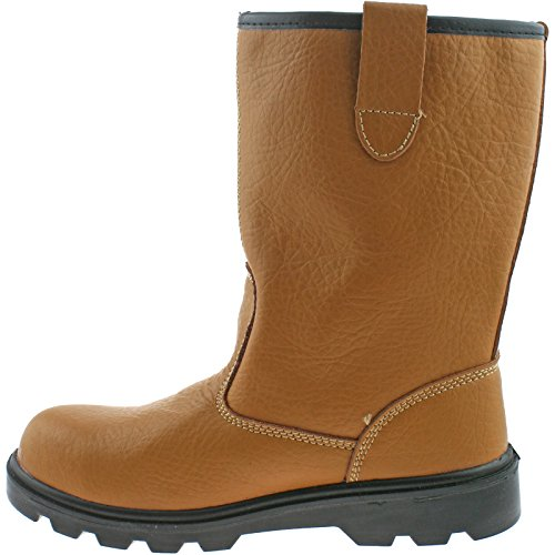 Grafters Mens Heavy Duty Safety Rigger Boots Tan Tan X1RLq8rj