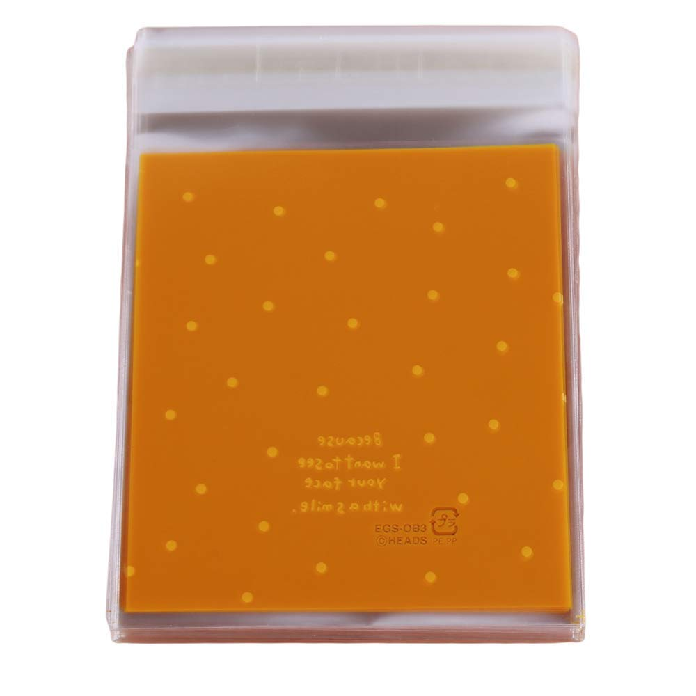 Simple Self Adhesive Cookie Bags Candy Party Favor Bags Wave Dots Bags, Yellow Durable and Useful