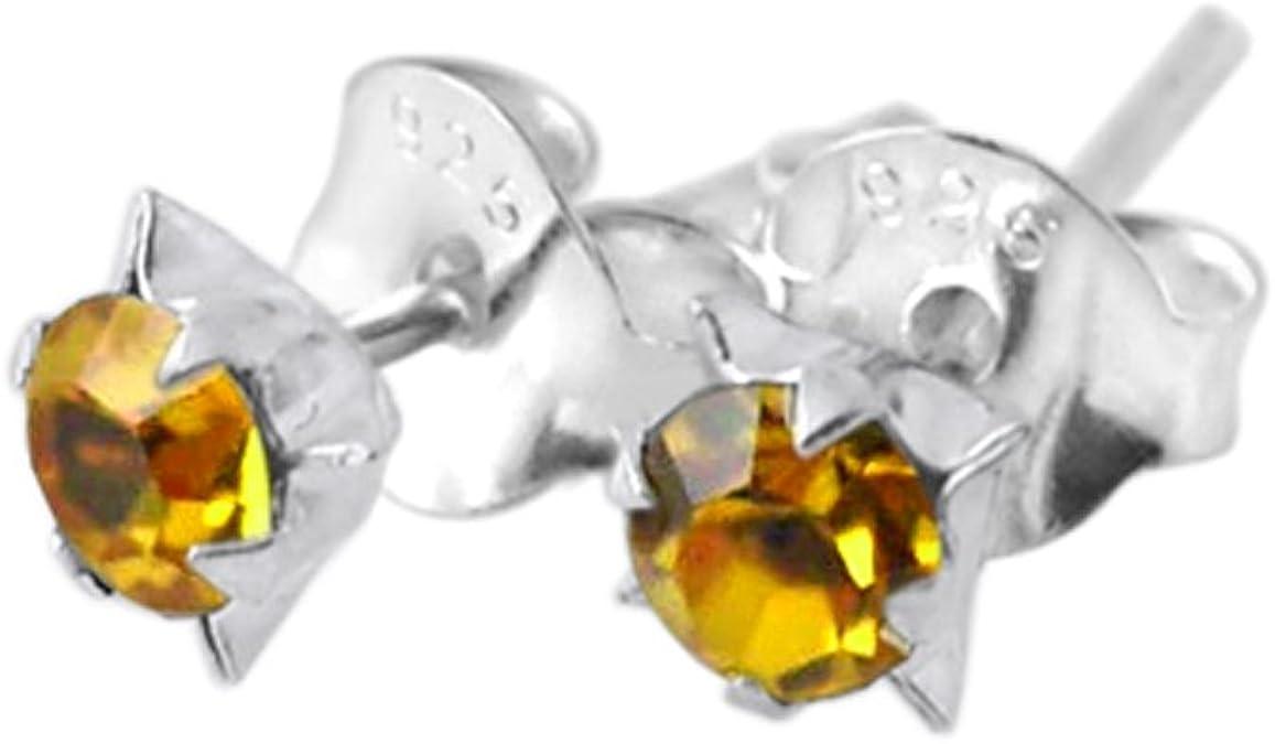 January Birthstone 0.20 Ct  Natural Tsavorite Stud Pierced Earrings in Sterling Silver  3mm Round Cut