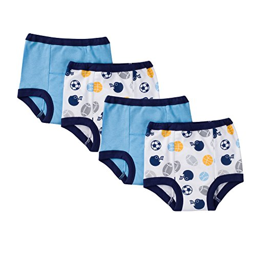 GERBER Baby Boys' 4 Pack Training Pants Toddler Underwear
