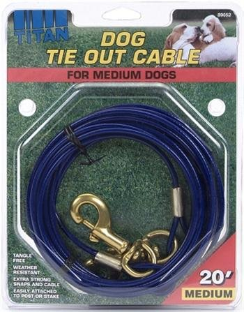 Coastal Pet Titan Medium Cable Dog Tie Out 20 Feet by Coastal Pet