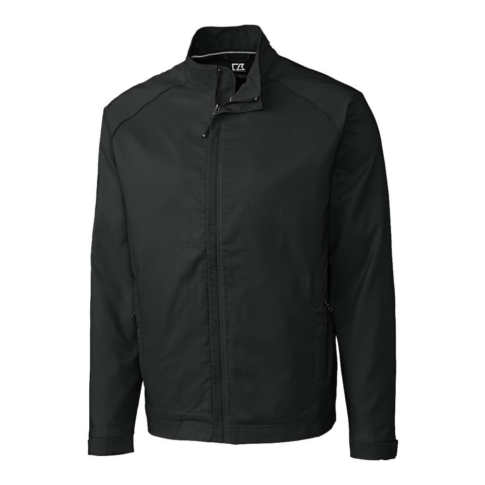 Cutter & Buck Big & Tall CB WeatherTec Blakely Jacket (3XTall, Black)