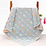 Baby Gauze Blanket/Comforter/Swaddle Boys Girls Bed Quilt 100% Muslin Cotton 6 Layered Crib Dream Blankets for Newborn Toddler Kids