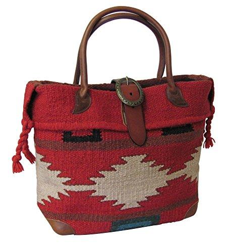 amerileather-red-wool-blend-roamer-tote-bag