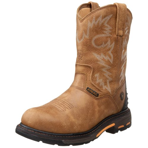 - Ariat Men's Workhog Pull-on H2O Composite Toe, Rugged Bark, 7 2E US