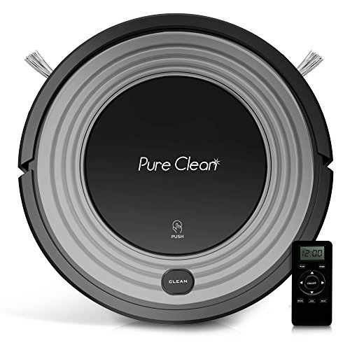 Automatic Programmable Robot Vacuum Cleaner – Robotic Auto Home Cleaning for Clean Carpet Hardwood Floor w/Self Activation and Charge Dock – HEPA Pet Hair & Allergies Friendly – PureClean PUCRC96B
