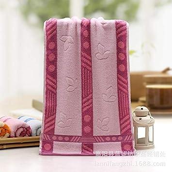 LybMaoJ Toalla algodón Cara Toalla algodón * algodón Suave Absorbente, Polvo de Bola, 35 * 75 cm, Set of 2: Amazon.es: Hogar