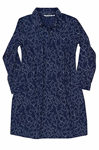 Block Printed Cotton Top - Ayurvastram AV Pure Cotton, Block Print Tunic, Top, Kurti: Indigo Floral: Sz XL