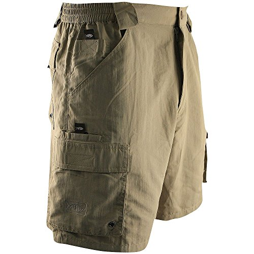 AFTCO Bluewater M03 Tournament Side Elastic Shorts - Olive - Size - Bluewater Boots