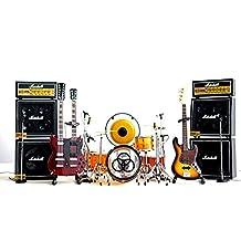 Led Zeppelin Miniature Guitar, Drums, Mics, Amps 12-pieces Set Display Kit