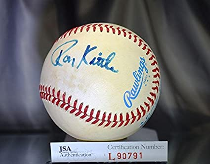 675256f663f Ron Kittle Autographed Ball - Macphail American League Authentic - JSA  Certified - Autographed Baseballs
