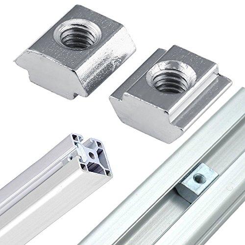 PZRT 2020 Series Aluminum Profile Connector Set, 20pcs Corner Bracket,40pcs M5 x 10mm T-slot Nuts, 40pcs M5x10mm Hex Socket Cap Screw Bolt for 6mm Slot Aluminum Profile Accessories by PZRT (Image #2)