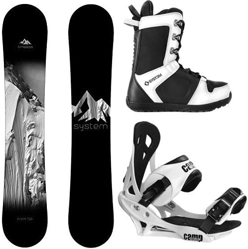 System Timeless and Summit Complete Men s Snowboard Package New 2020