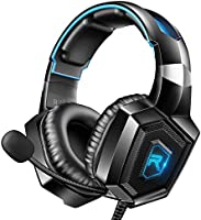 RUNMUS Stereo Gaming Headset for PS4, Xbox One, Nintendo Switch, PC, PS3, Mac, Laptop, Over Ear Headphones PS4 Headset...