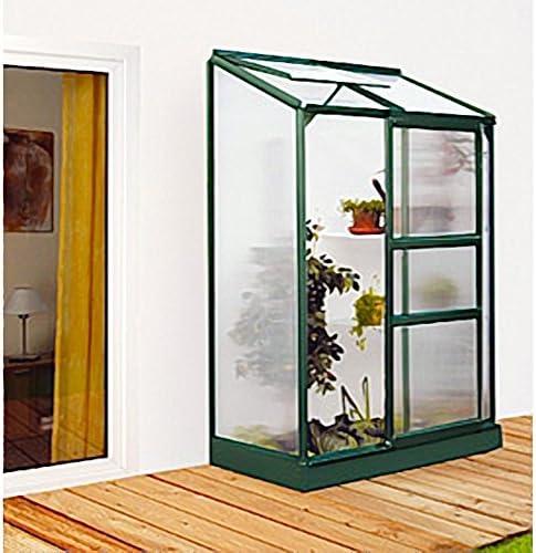 Ida de aluminio Invernadero verde 900 HKP-100 4 mm Balcón de invernadero 0, 9 m² incluye base con cimientos: Amazon.es: Jardín