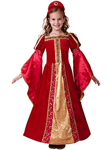 Halloween Costume Girls Renaissance Princess (Medium) (Renaissance Halloween Costume)