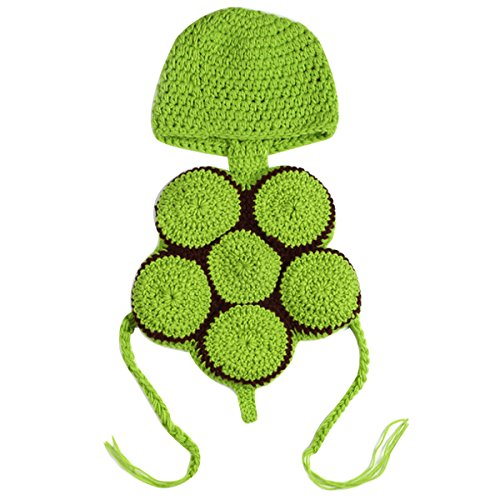 Kennedy Newborn Baby Girls/Boys Photography Props Outfit Cute Crochet Tortoise Costume Hat Outfits ()
