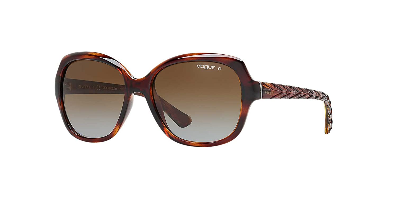 c0fb2ee43e Vogue Sunglasses 2871S 1508T5 Dark Havana Brown Gradient Polarized   Amazon.co.uk  Clothing