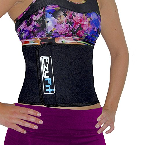 EzyFit Waist Trimmer - Premium Weight Loss Exercise Ab Belt - Back Posture Support- Stomach Sweat...