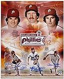 #1: Pete Rose, Steve Carlton and Mike Schmidt Philadelphia Phillies 1980 World Series Autographed 16