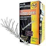 Bird-X Stainless Steel Bird Spikes Kit, Covers...