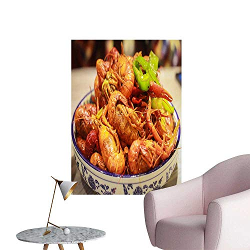 SeptSonne Vinyl Wall Stickers Lobster on The Plate Perfectly Decorated,28