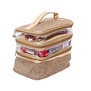 Kuber Industries Jute Jewellery Kit, Gold