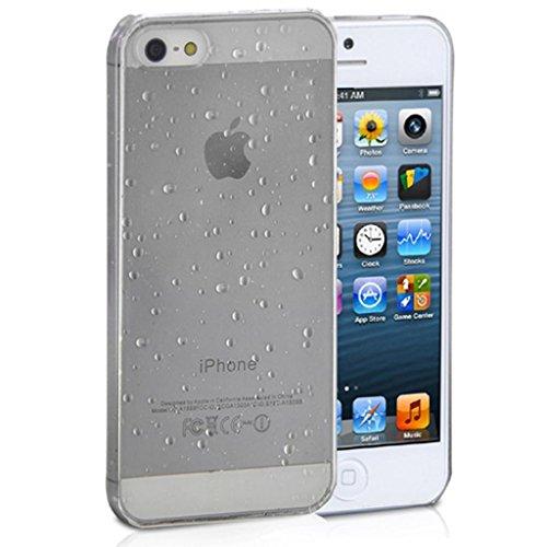 Mobile Case Mate iPhone 5c Coque couverture Case Cover clair Goutte de pluie Goutte d'eau