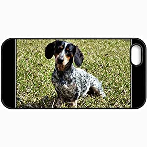 Customized Cellphone Case Back Cover For Case For HTC One M7 Cover , Protective Hardshell Case Personalized Dachshund Black