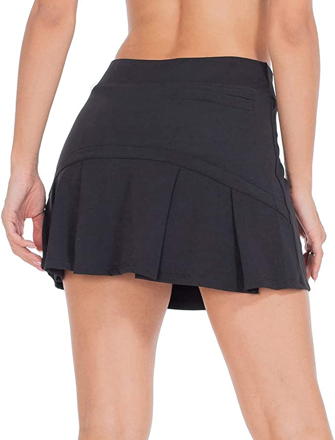 ZEALOTPOWER Tennis Skorts for Women Golf Skirts with Pockets Athletic Sports Running Active