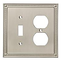 Franklin Brass W35062-SN-C Classic Beaded Switch/Duplex Wall Plate/Switch Plate/Cover, Satin Nickel