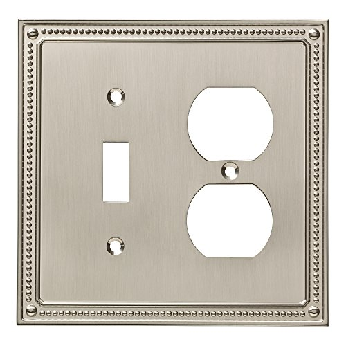 Franklin Brass W35062-SN-C Classic Beaded Switch/Duplex Wall Plate/Switch Plate/Cover, Satin Nickel ()