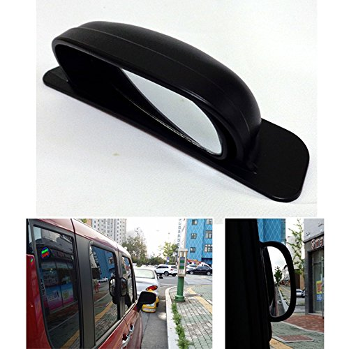 Car Secondary View Mirror Safe Protection Side Blind Spot Rear for Car Bus Taxi ()