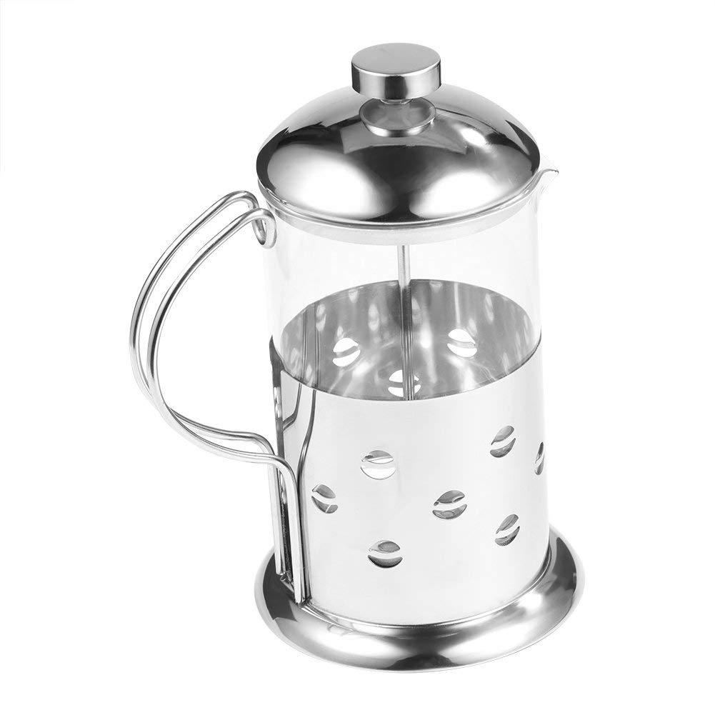 Acquisto Caffettiera Francese Teiera con Telaio Manico e Coperchio in Acciaio Inox Pentola Tazza da tè Caffettiera Pressofiltro Teiera Pot Filtro Piatto(800ML) Prezzi offerta