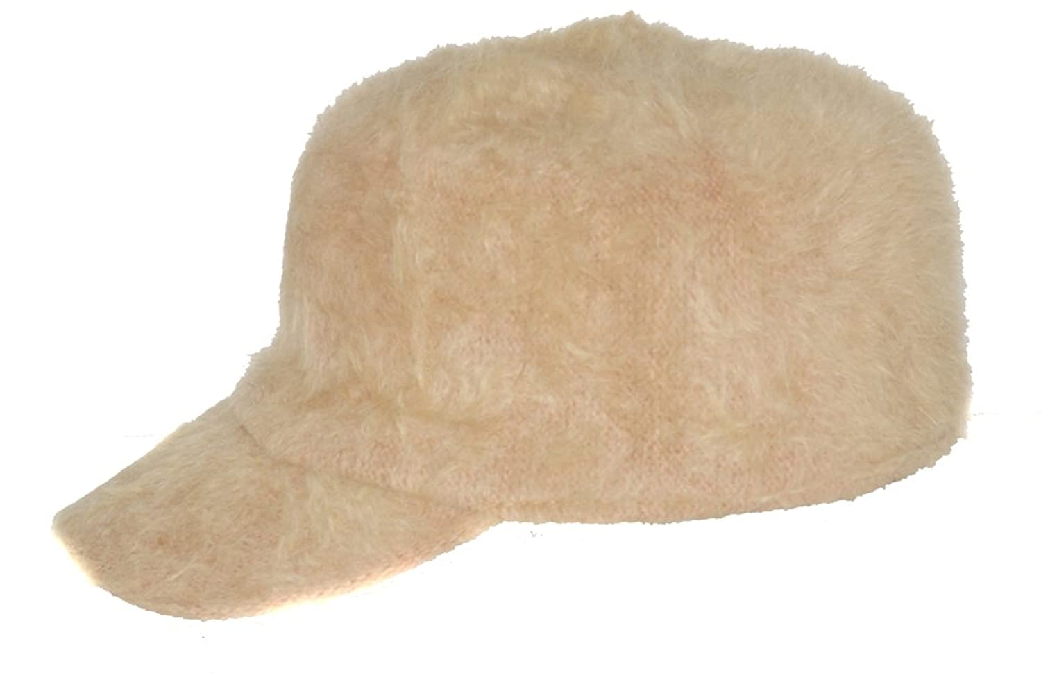 Ladies Angora Military Cadet Style Hat
