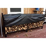 Firewood Stand With Cover Log Stand For Firewood Holder Outdoor 8 Foot Rack Heavy Duty Off Of The Ground Steel Frame Rack Storage Safe Wood Weatherproof Sturdy Durable Porch Deck & eBook By NAKSHOP