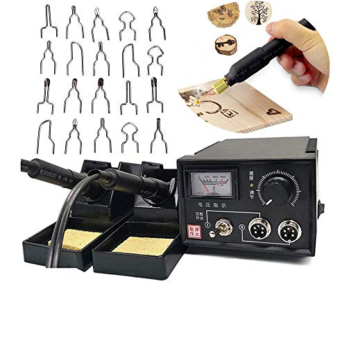 60w Wood Burning Kit 220v Multifunction Pyrography Machine Professional Wood Burning Tool Kit Gourd Wooden Crafts Pyrography Kit With 2pcs Pyrography Pen 20pcs Pyrography Wire Tips Dual Pens Buy Online In Serbia At