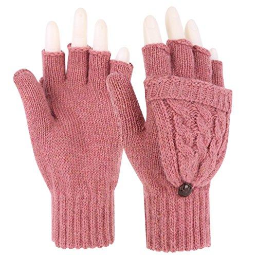 Novawo Winter Knitted Convertible Gloves