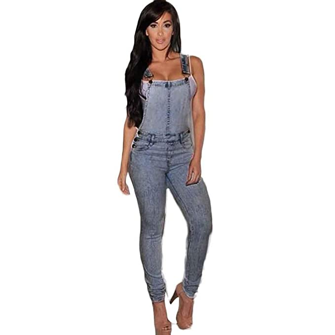 Women's Clothing Women Sexy Slim Fit Baggy Loose Jeans Denim Overalls Pants Jumpsuit Rompers