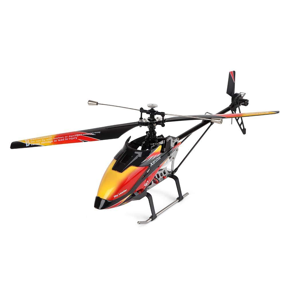 リモートコントロール航空機ジャイロナビゲーションモデル玩具付きシングルパドルヘリコプター B07LF87BHG