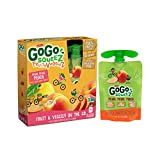 GoGo squeeZ Fruit & VeggieZ, Apple Peach Sweet Potato, 3.2 Ounce Portable BPA-Free Pouches, Gluten-Free, 4 Total Pouches For Sale