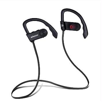 Auriculares Bluetooth, Auriculares InaláMbricos Deportivos Bluetooth 4.0, Auriculares EstéReo De Alta Fidelidad Con MicróFono EstéReo, AudíFonos Con ...