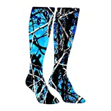 Moon Shine Camo Blue Athletic Socks Knee High Socks For Men&Women Warmer Stockings Sport Long Sock Tube Long Stockings Casual Socks