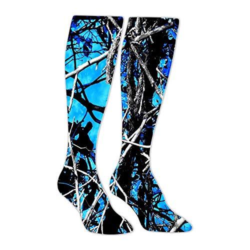 Moon Shine Camo Blue Athletic Socks Knee High Socks For Men&Women Warmer Tube Long Stockings Casual Socks